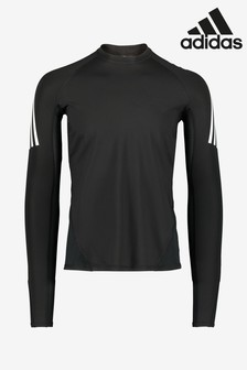 adidas Alpha Skin 3 Stripe Long Sleeve T-Shirt