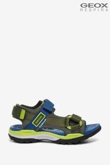 Geox Junior Boy's Borealis Military/Avio Sandals