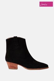 Joules Black Bourne Boots