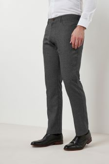 Regular Fit Textured Trousers