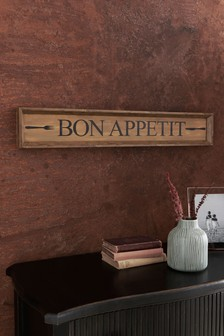 Plaketa s nápisom Bon Appetit