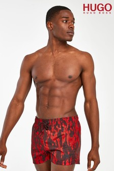 HUGO Red Palawan Swim Shorts
