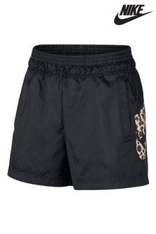 Nike Black Animal Logo Woven Shorts