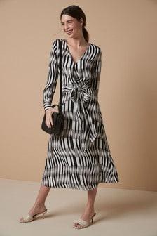 Geo Belted Dress