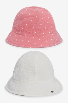 2 Pack Crinkle Hats (0-18mths)