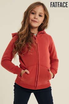 FatFace Red Create Your Future Zip Through Hoody