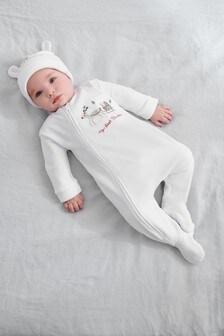 Christmas Velour Sleepsuit (0mths-3yrs)
