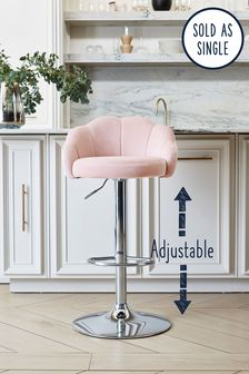 Layla Adjustable Chrome Leg Bar Stool
