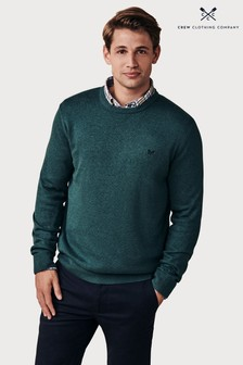 Crew Clothing Company Green Foxley Crew Neck Jumper