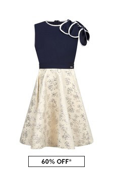 Jessie And James Girls Navy Petal Dress