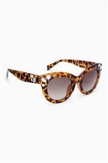 Jewelled Square Sunglasses