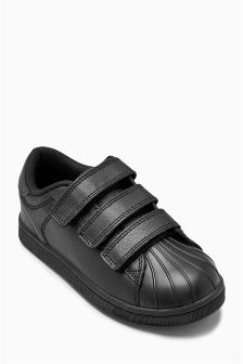 Triple Strap Leather Trainers (Older)