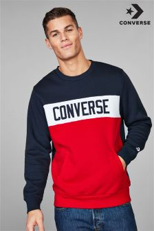 Converse Navy/Red Star Chevron Colourblock Crew