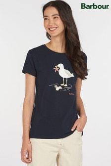 Barbour® Coastal Navy Seagull Print Penfor T-Shirt