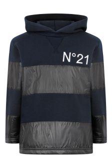 N°21 Boys Navy Hoodie