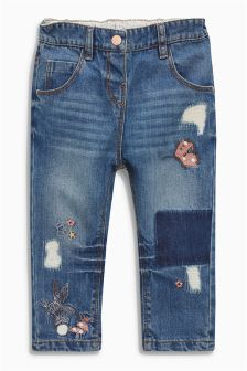 Character Embellished Jeans (3mths-6yrs)