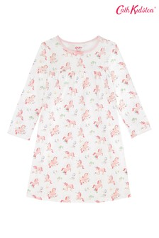 Cath Kidston® Kids White Meadow Unicorn Nightie