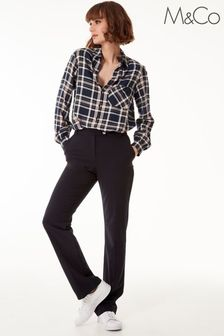 M&Co Blue Classic Slim Trousers