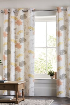 Pasture Floral Eyelet Curtains