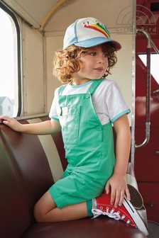 Little Bird Unisex Green Dungarees And T-Shirt Set