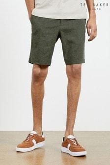 Ted Baker Dewwy Linen Blend Drawstring Shorts