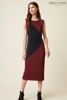 Great Plains Cabernet Red Marnie Jersey Round Neck Dress
