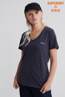 Superdry Essential T-Shirt mit V-Ausschnitt
