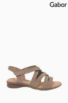 Gabor Cream Moben Nubuck Sandals