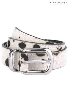 Mint Velvet Animal Dalmatian Print Belt