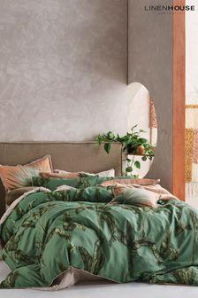 Livia Banana Leaf Duvet Cover and Pillowcase Set by Linen House