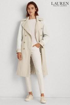 Lauren Ralph Lauren® Showerproof Contrast Colour Trench Coat