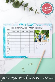 Personalised Family Of 5 Weekly Planner by Oakdene Designs