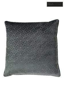 Riva Home Florence Embossed Geo Luxe Velvet Cushion