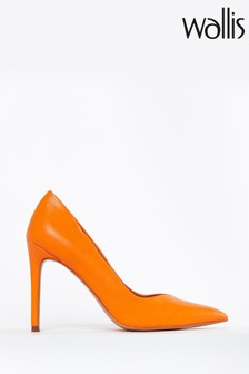 Wallis Orange Picasso Point High Heel Shoes