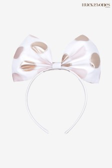 Hucklebones Gold Spot Bow Hairband