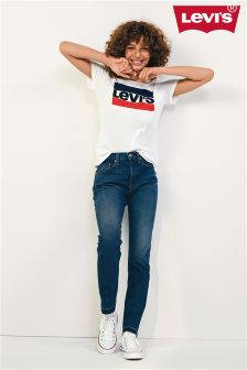 Levi's® 501® Indigo Frayed Skinny Jean