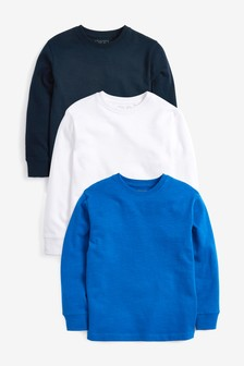3 Pack Long Sleeve Tops (3-16yrs)