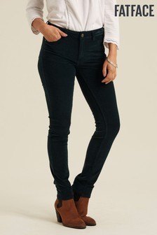 FatFace Green Five Pocket Cord Jeggings