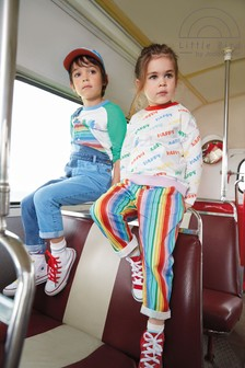 Little Bird Unisex Rainbow Stripe Chino Trousers