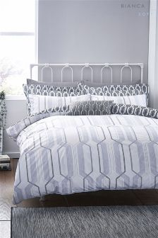 Bianca Soft Geo Bed Set