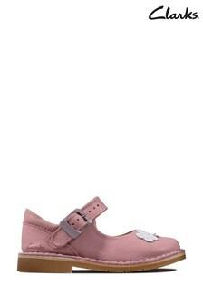 Clarks Pink Comet Gem T Shoes