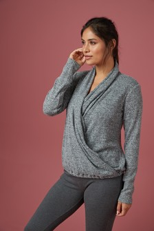 Supersoft Knitted Wrap Top
