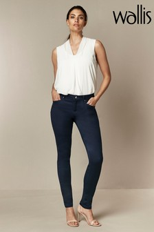 Wallis Blue Tinseltown Fly Front Jeans