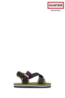 Hunter Original Khaki Fabric Beach Sandals