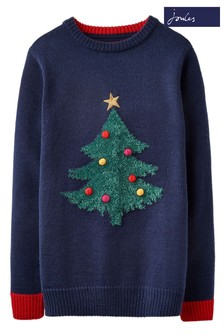 Joules Blue The Cracking Christmas Jumper