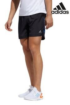 adidas Black Run It 3 Stripe Shorts