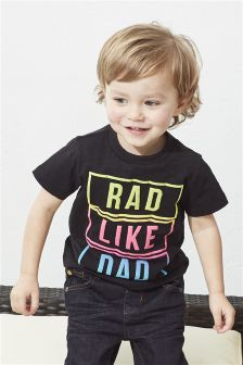 Family Slogan Short Sleeve T-Shirt (3mths-6yrs)