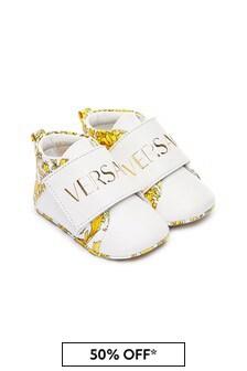 Versace Baby Unisex White Trainers