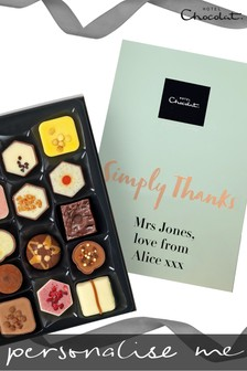 Personalised Simply Thanks Patisserie H Box by Hotel Chocolat