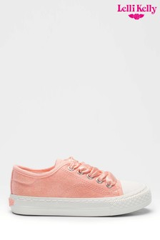 Lelli Kelly Pink Gaia Lace Up Trainers